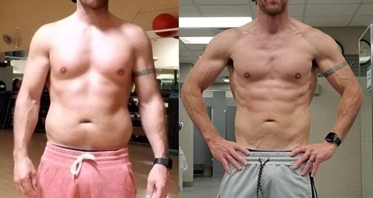 male one year transformation photo